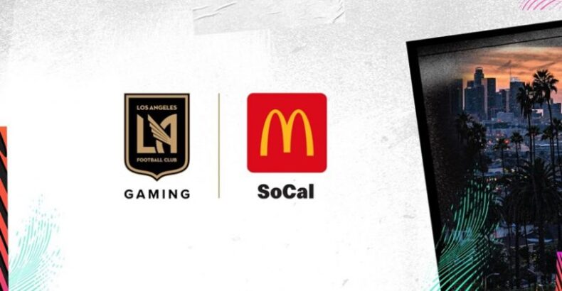 LAFC Gaming signs advertising organization with McDonald's SoCal