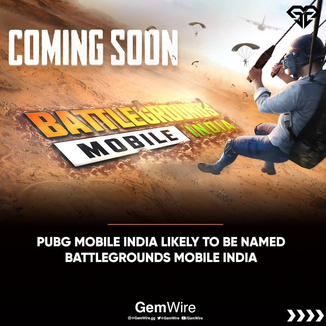 PUBG Mobile India Will Now Be Battleground Mobile India! Name Change To Be Expected Later of Launch | Esports | PUBGM | News